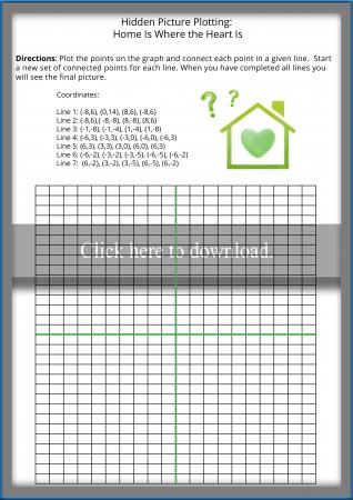 Simple Coordinate Graphing Hidden Picture Worksheet