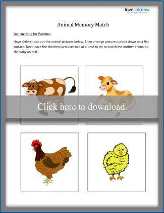Animal Memory Match Game