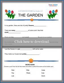 Garden Synonym Story