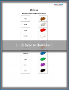 Spanish Color Matching Activity