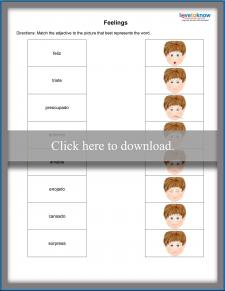 Spanish Feelings Worksheet