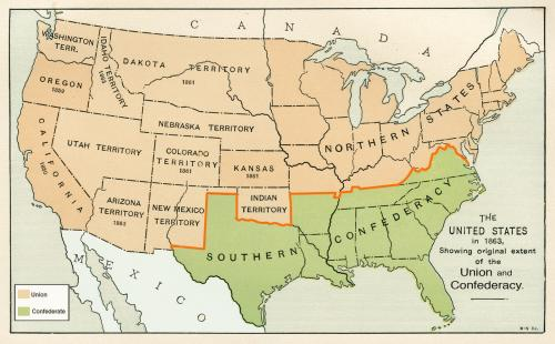 Union and Confederate States