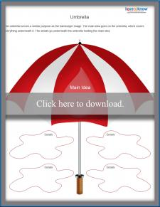 Main Idea Umbrella Worksheet