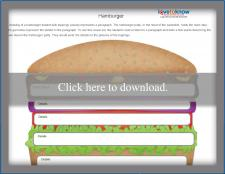Main Idea Hamburger Worksheet