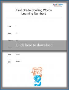 Spelling Numbers List