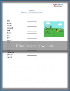 Second Grade Spelling Worksheet