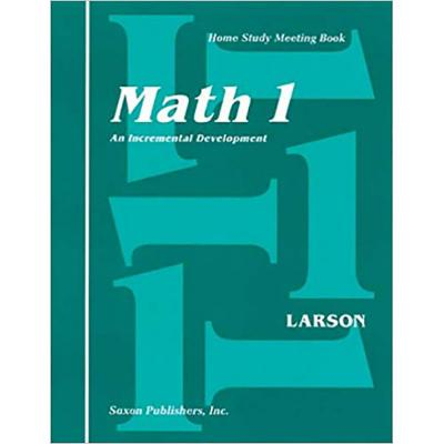 Saxon Math 1 Homeschool