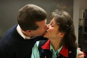 Jim Bob and Michelle Duggar Kissing