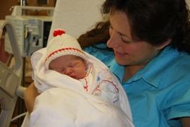 Michelle Duggar with her 18th child, Jordyn-Grace Makiya.
