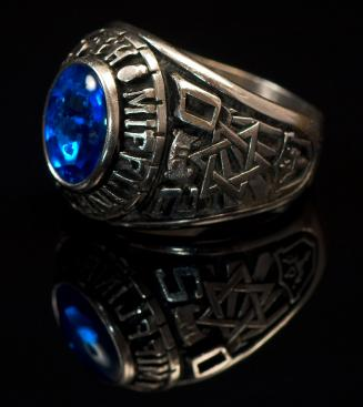 A traditional class ring.