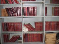bookshelf with books for homeschooling