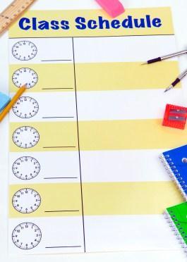 Schedule for homeschool