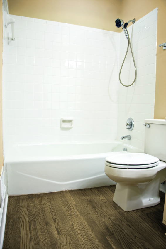 Fiberglass Tub Surround Over Tile - Round Designs