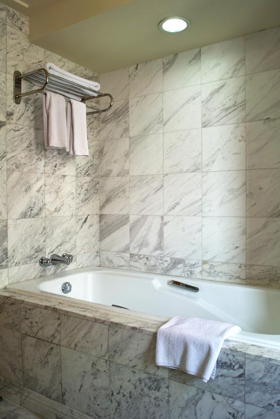 Marvelous Carrara Marble Tub Surround