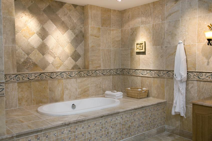 Decorative Stone Tub Surround