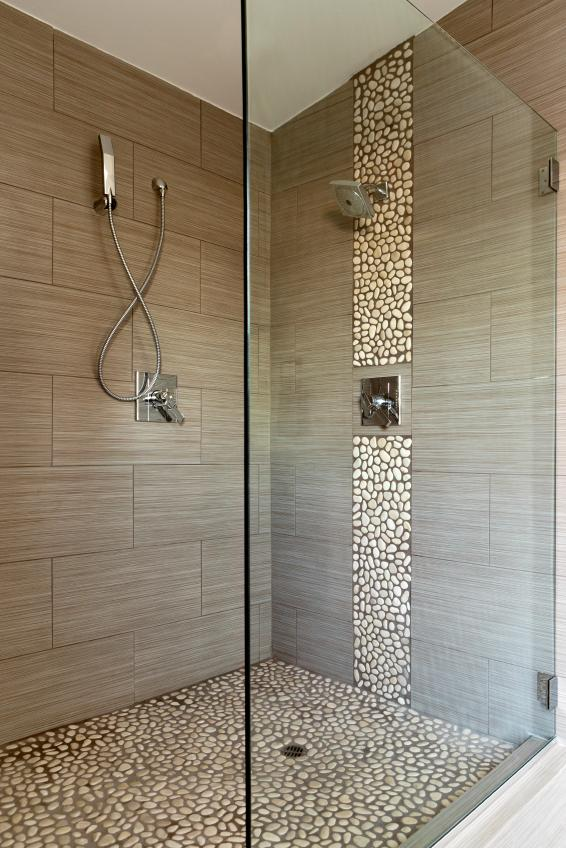 Mosaic Tile Bathroom Source · Textured Porcelain Shower
