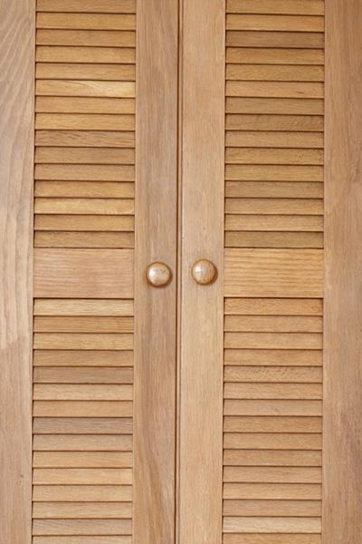 Beau Cabinet Door With Wood Louvers