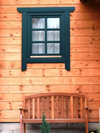 Painted exterior window