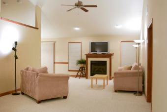 Living room with Berber carpeting