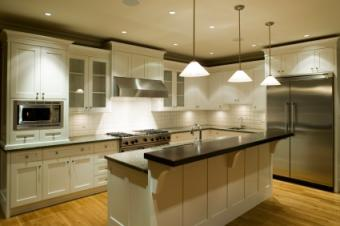 recessed panel painted wood cabinets