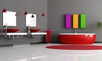 Bathroom Fixtures in Colors