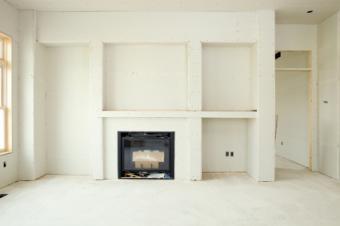 prefab unit built into drywall