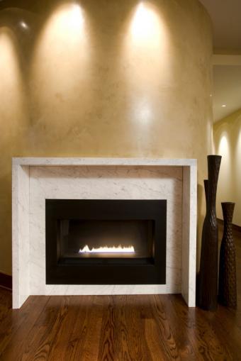 Prefab gas fireplace