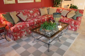 Checkerboard carpet tiles