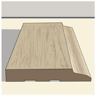 3-inch baseboard trim