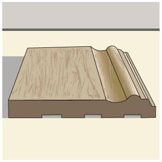 Mid-height baseboard trim