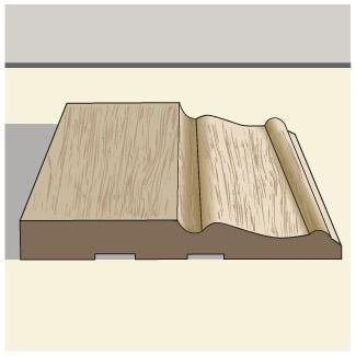 Taller baseboard trim