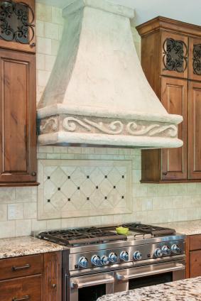 tile backsplash behind cooktop