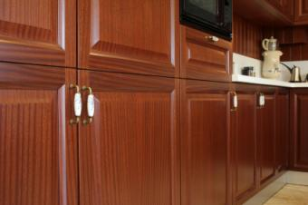Kitchen cabinet close-up