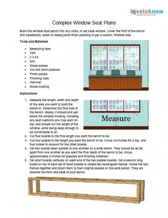 Complex window seat plans