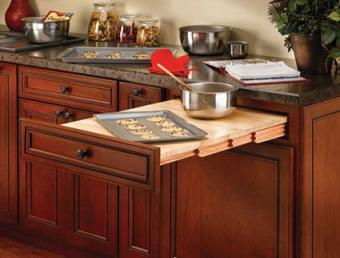 Rev-a-Shelf Wood Pull Out Tambour Table
