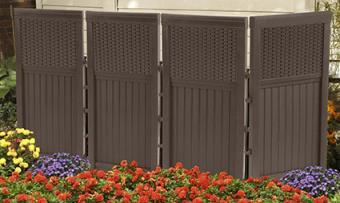 Suncast resin wicker outdoor screen enclosure