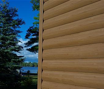 Timbermill Forest Brown log vinyl siding