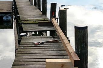 wood repair on a dock