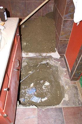 Repairing a slab leak