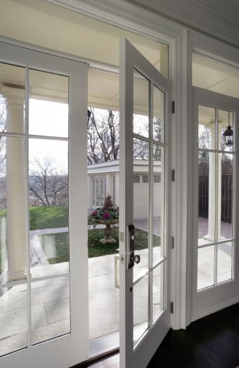 Hinged French doors