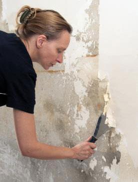 Wallpaper Glue Removal