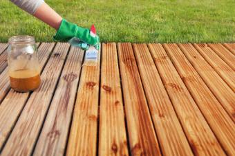 Staining a deck or wood patio