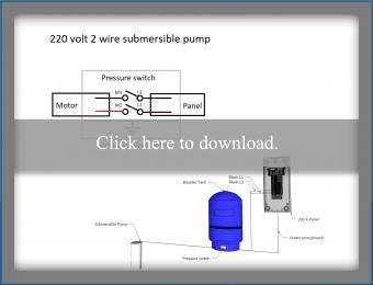 220 volt 2 wire pump