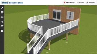 Screenshot of Lowes deck designer