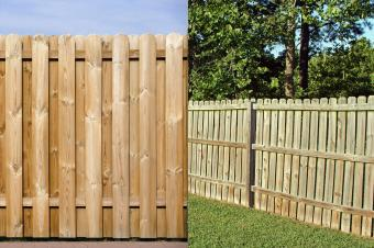Wood fence examples