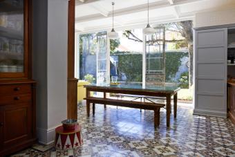 Interior shot of beautiful open kitchen/livingroom