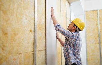 Construction Worker Built A Drywall
