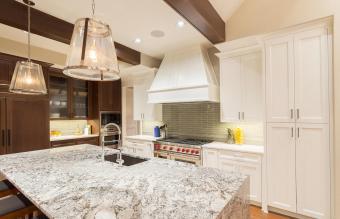 Quarts Countertops in a Kitchen
