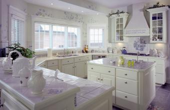 Ceramic Tile countertops in kitchen