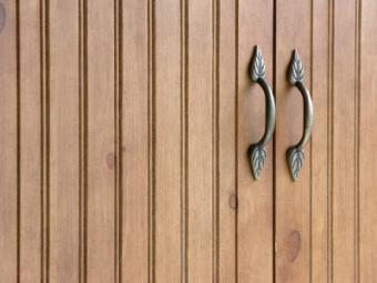 Beadboard cabinet door